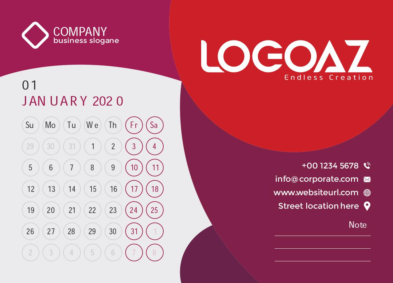 Thiết kế lịch tết | logoaz