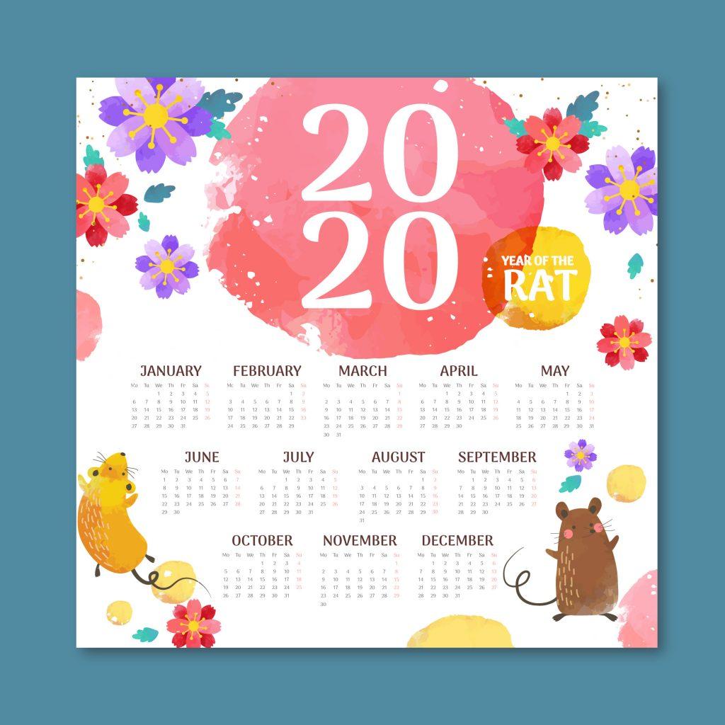 Thiết kế lịch tết năm mới | logoaz.net