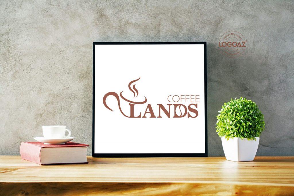 Thực Hiện Thiết Kế Logo Coffee Lands Chuyên Nghiệp LOGOAZ