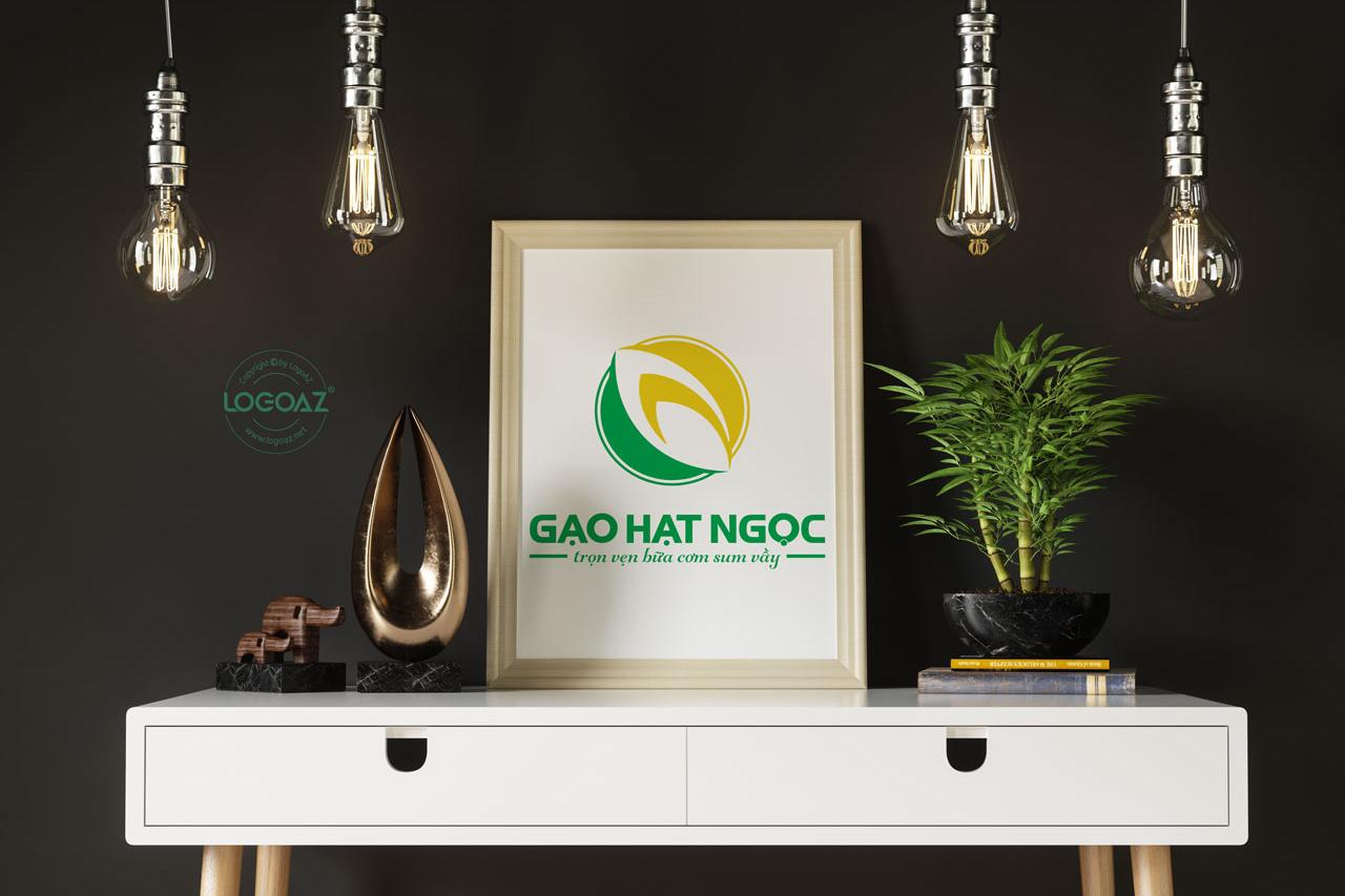 Thiết Kế Logo Thương Hiệu GẠO HẠT NGỌC Tại LOGOAZ