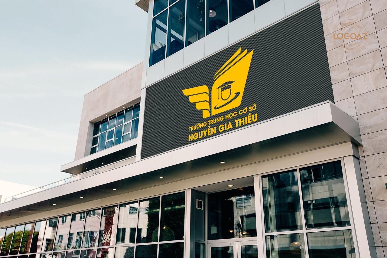 LOGOAZ Thực Hiện Thiết Kế Logo Thương Hiệu Trường THCS Nguyễn Gia Thiều