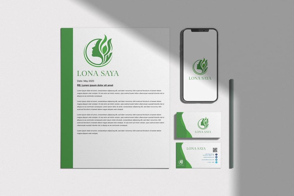 Bộ nhận diện thương hiệu LONA SAYA | LOGOAZ