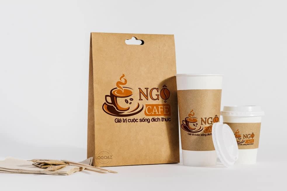 Thiết kế logo thương hiệu NGỘ CAFE | LOGOAZ