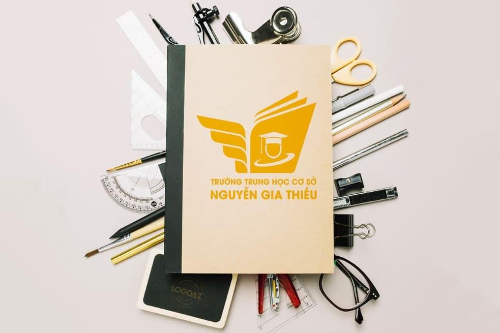 Thiết kế logo thương hiệu THCS NGUYỄN GIA THIỀU | LOGOAZ