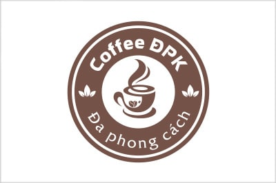 Thiết kế logo thương hiệu Coffee DPK tại LOGOAZ